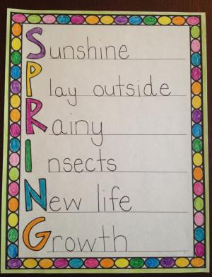 Spring Poems...