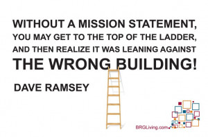 Dave Ramsey Quote | The importance of a mission statement | BRG ...
