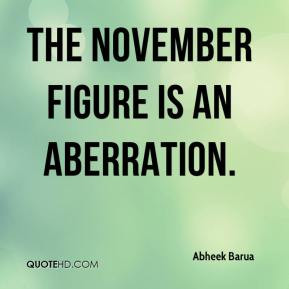 The November figure is an aberration.