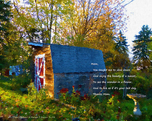 Papa's Old Barn Quote Print by Michael DArienzo