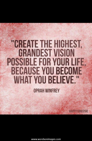 Motivational quotes vision