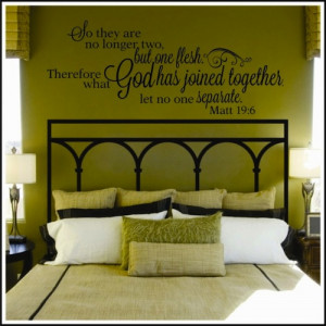 What God Has Joined Together Wall Decal--$32