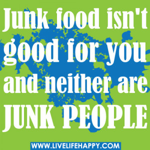 Junk Food Quotes