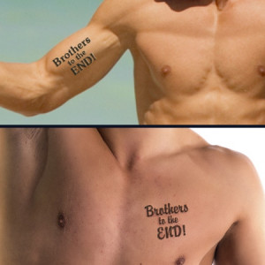 Matching Brother Tattoos Designs Brothers to the end tattoo