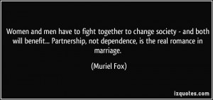 Women and men have to fight together to change society - and both will ...