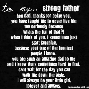 My father is very strong man