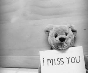 Quotes I Miss You Teddy Bear Black And White Wallpapers Jpg