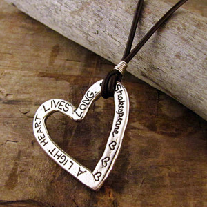 Shakespeare Quote Necklace - Inspirational Jewelry - Heart Necklace ...