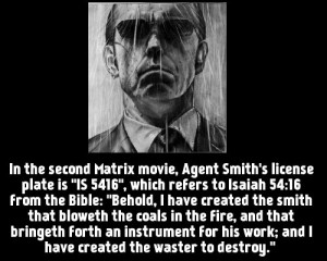 Agent Smith is one of my favourite characters from the Matrix movie ...