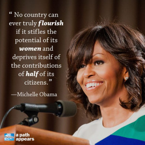 On Wednesday, Michelle Obama spoke to leaders at the Mandela ...