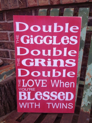 Blessed with Twins: double the poop, double the pee, double the money ...