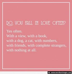 Cute love fall short quotes