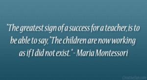 Maria Montessori Quotes About Teachers