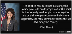 think labels have been used alot during this election process to ...