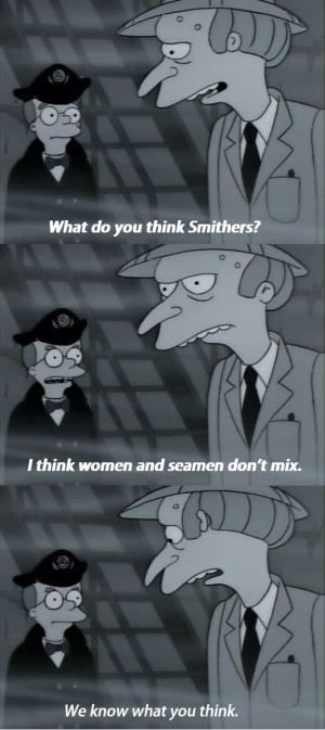 Smithers & Mr. Burns