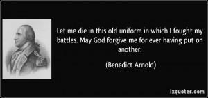 More Benedict Arnold Quotes