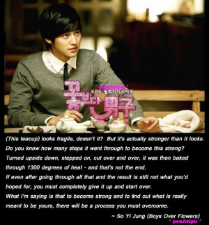 Boys Over Flowers quote : So Yi Jung : Kim Bum