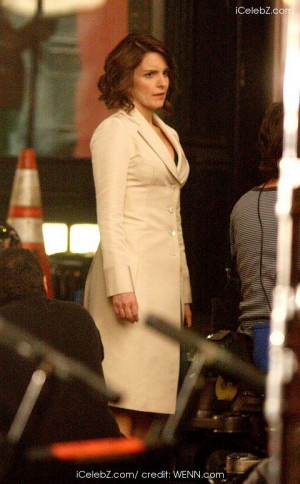 ... Tina Fey on location of the film set in their new movie 'Date Night