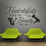 ... Words Wall Quotes Salon Wall Decal Hair Salon Wall Sticker Wall