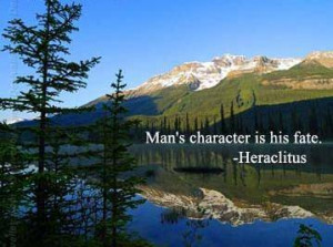 Character Quotes Comments Graphics,Man's character is his fate
