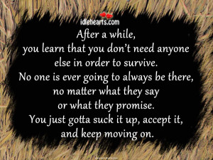 Home » Quotes » After a While, You Learn That You Don't Need ...