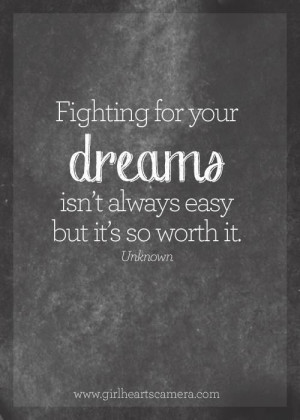 Fighting For Your Dreams