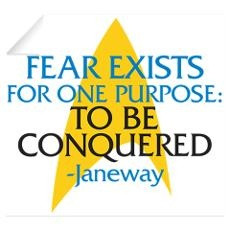 Star Trek: Janeway Fear Quote Wall Decal