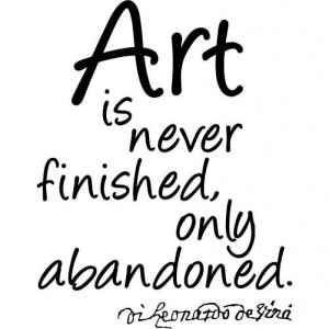 Leonardo Da Vinci Quote - Art Is Never Finished -LARGE- Vinyl Wall ...