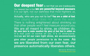 Our Deepest Fear-Quote-MarianneW-plain