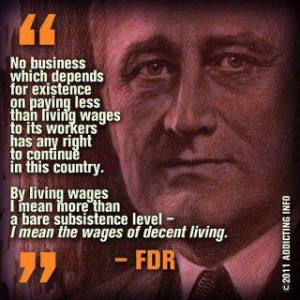 FDR living wage quote