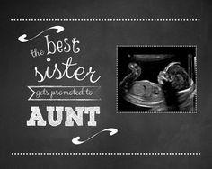 ... aunt, pregnancy announcement, telling sister pregnant, new aunt