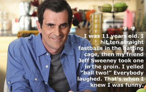 Phil Dunphy on being funny.
