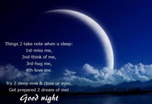 Good night facebook quotes