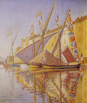 paul signac le port de saint tropez description paul signac