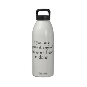 Funny water bottles humor quotes joke gifts girls