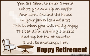 Retirement poems for colleagues: Happy retirement poems for co-workers