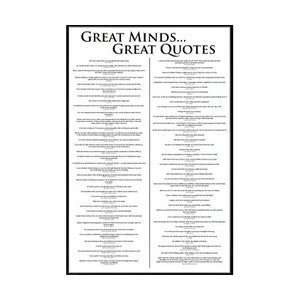 Great Minds (Great Quotes) Poster: Home & Kitchen