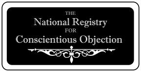 The National Registry for Conscientious Objection