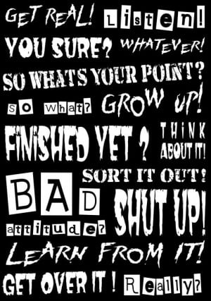 bad attitude quotes for girls