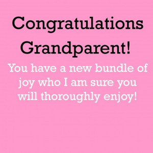 Congratulations Graphic for New Grandparents