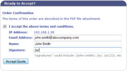 QuoteValet is Template Driven and Customizable
