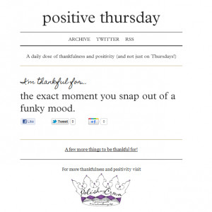 How to Remain Positive Any Day of the Week: Positive Thursday Website
