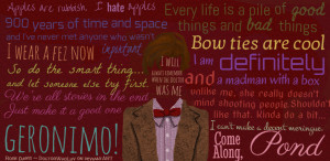 11th Doctor Quotes About Life ~ 11th Doctor Quote Typography Poster ...