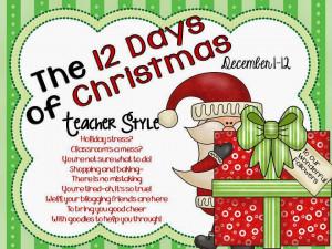 12 Days of Christmas-Teacher Style Linky Party