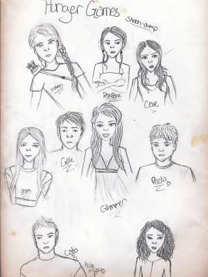 Hunger Games Sketch Dump by Spiralwindwings2207