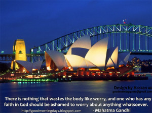 ... and that is cease worrying about the things which are beyond the power