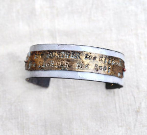Handcrafted Jewelry - 'FURTHER THE DISTANCE' Quote Cuff - Poets ...