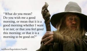 Gandalf to Bilbo, The Hobbit, An Unexpected Party