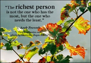 Contentment quotes, richest person quote picture