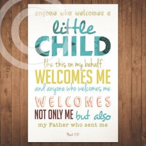 Mark - Bible Verse - Scripture - Baby Children Nursery - Quote ...